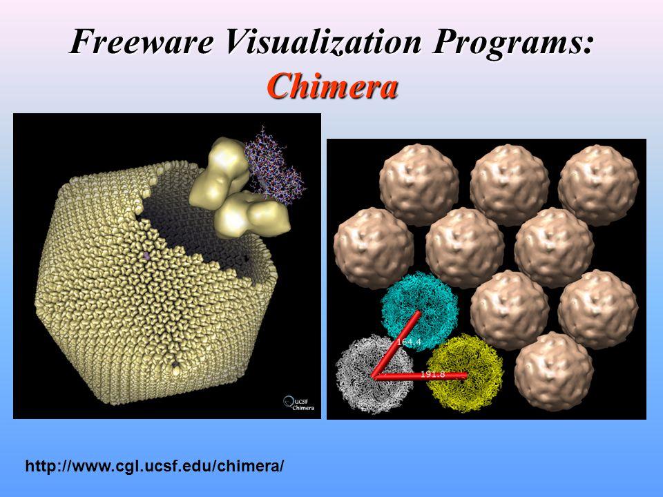 Freeware Visualization Programs: Chimera http://www.cgl.ucsf.edu/chimera/