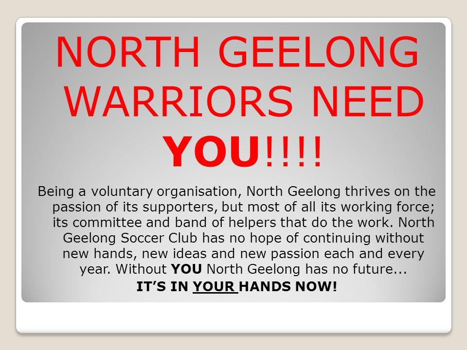 NORTH GEELONG WARRIORS NEED YOU!!!.