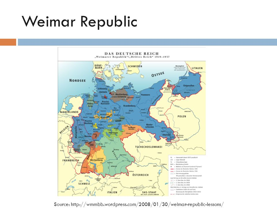 Weimar Republic Source: http://wmmbb.wordpress.com/2008/01/30/weimar-republic-lessons/