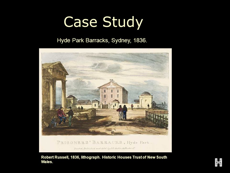 Case Study Robert Russell, 1836, lithograph. Historic Houses Trust of New South Wales.