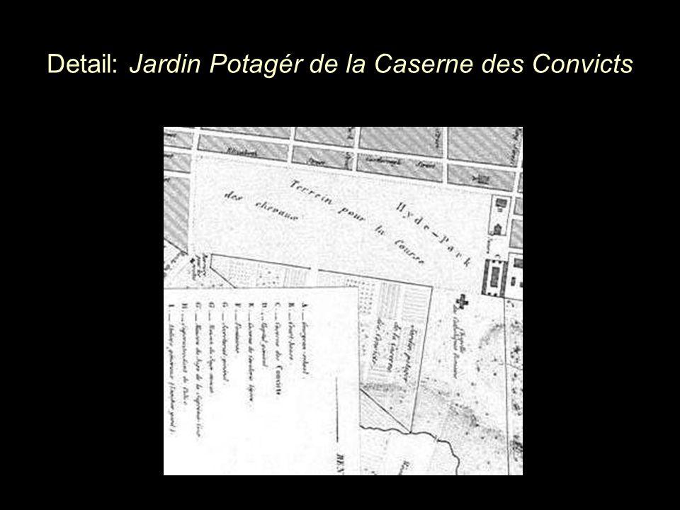 Detail: Jardin Potagér de la Caserne des Convicts