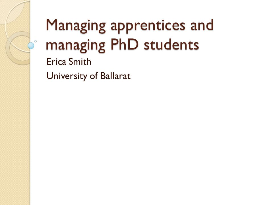 Expectations Similar among the types of organisations eg responsibility of organisation to provide support Emphasis on quality differed: companies emphasised their own responsibility to 'produce good quality tradesmen' (sic) while unis emphasised 'excellent research' as the responsibility of the student All organisations emphasised expectation of student to follow correct prodcuedres (safety, punctuality, ethcis)