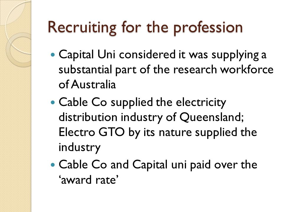 Performance management Formal progress reports in both unis and in Cable Co.
