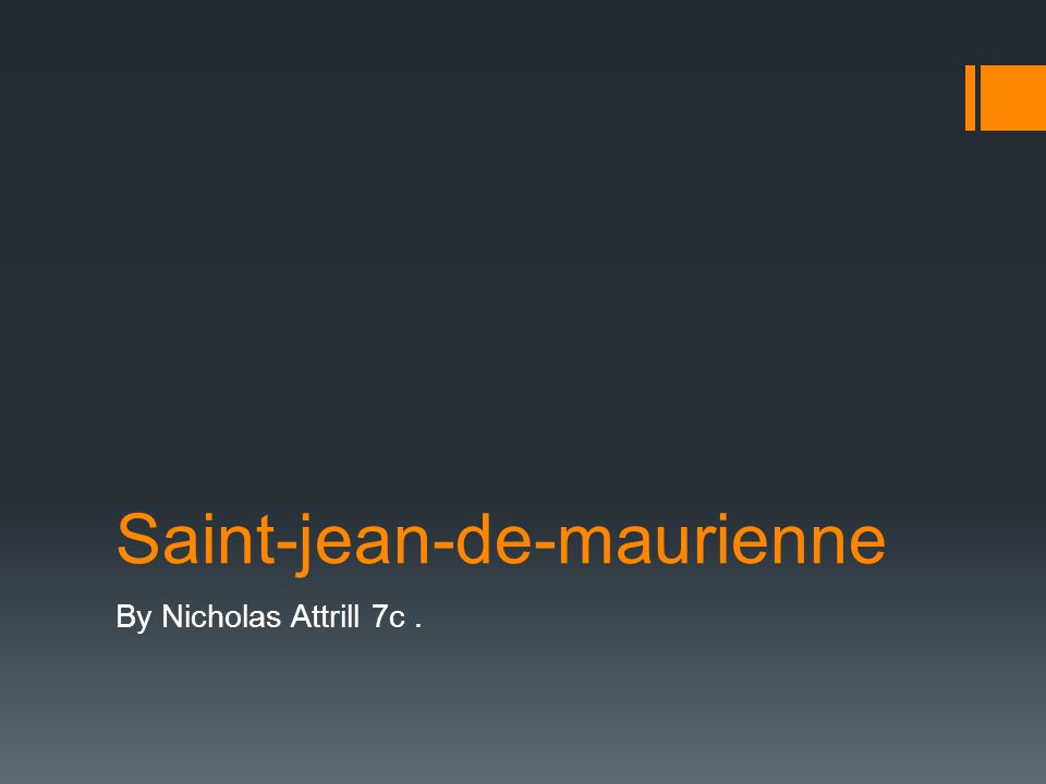 Saint-jean-de-maurienne By Nicholas Attrill 7c.