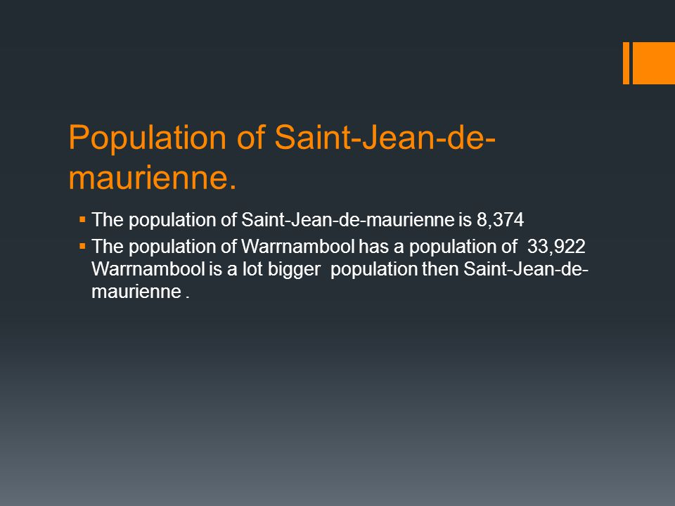 Population of Saint-Jean-de- maurienne.