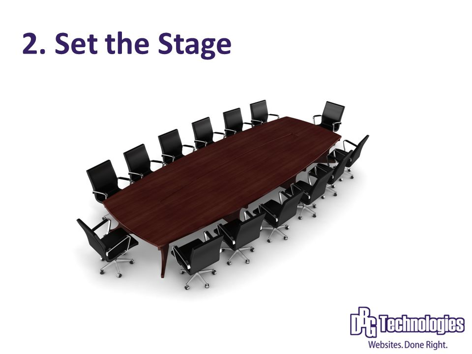 2. Set the Stage