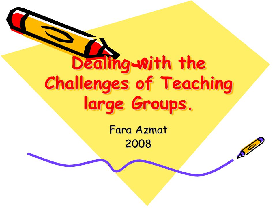 Problems of teaching a large Group Over view –Introducing MMM132 –Why large Group teaching is problematic.