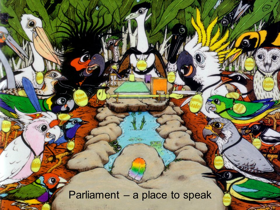 Parliament – a place to speak