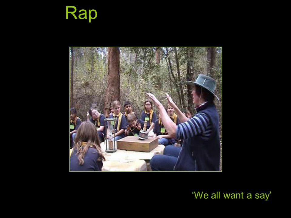 Rap 'We all want a say'
