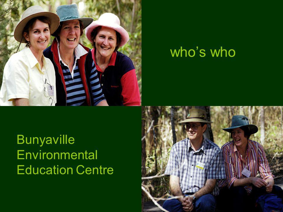who's who Bunyaville Environmental Education Centre