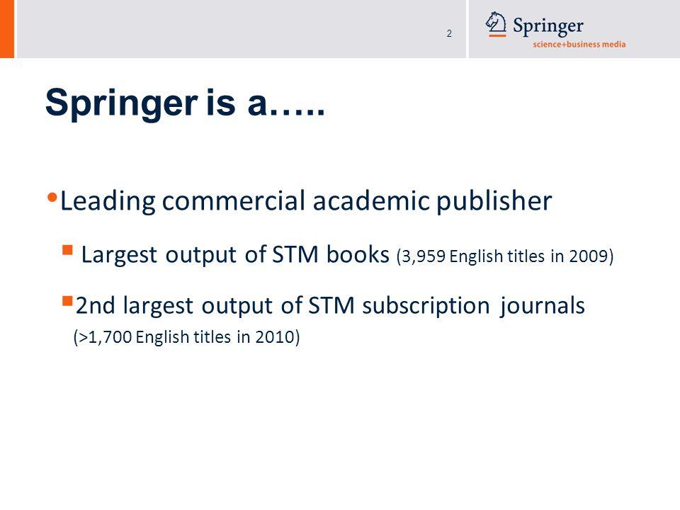 2 Springer is a…..