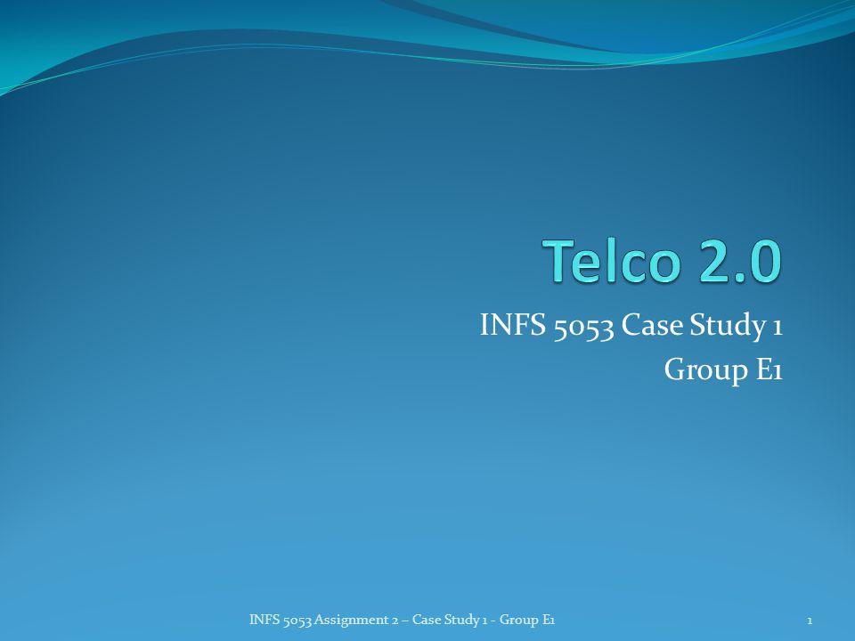 INFS 5053 Case Study 1 Group E1 INFS 5053 Assignment 2 – Case Study 1 - Group E11