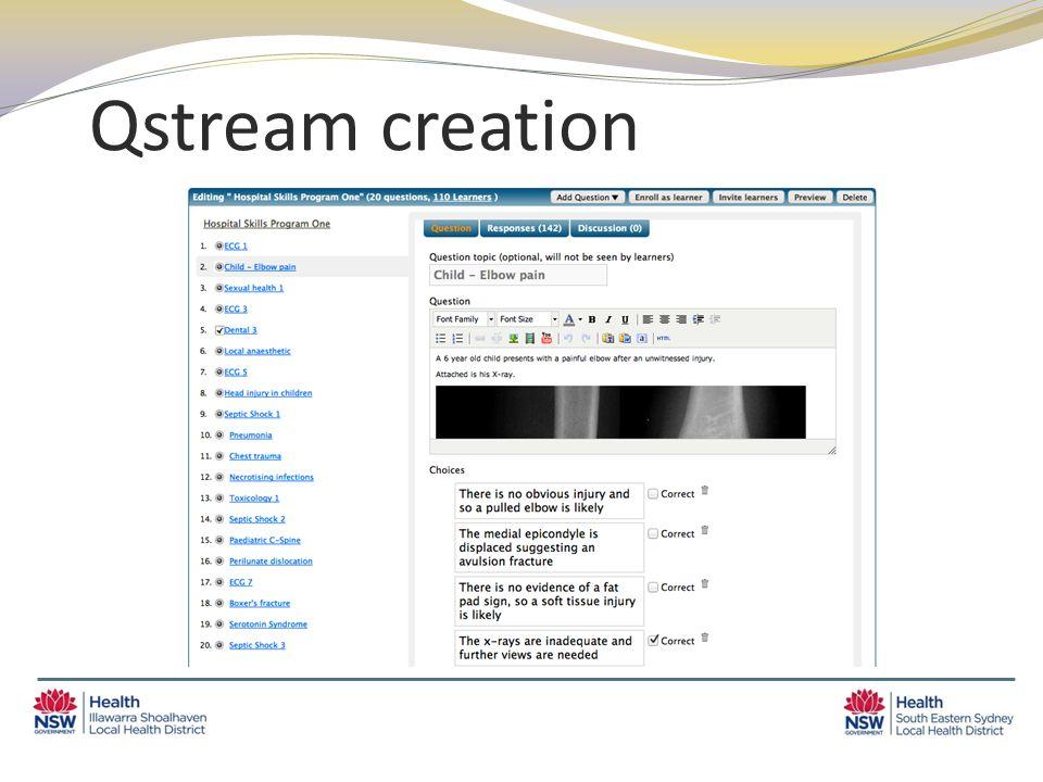 Qstream creation