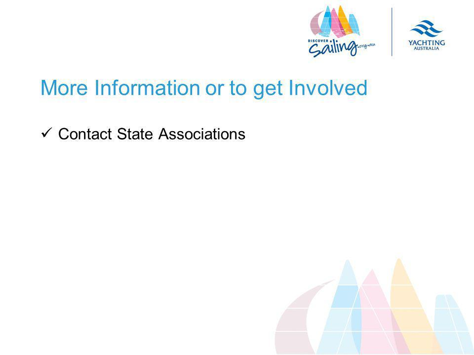 More Information or to get Involved Contact State Associations