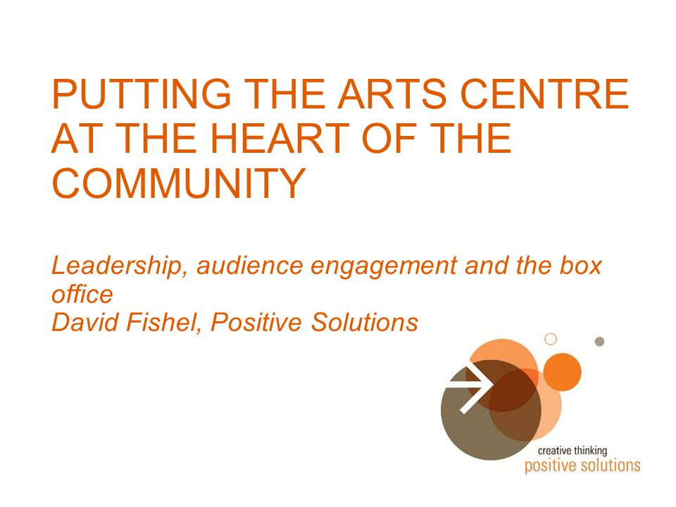 What makes a great arts centre?