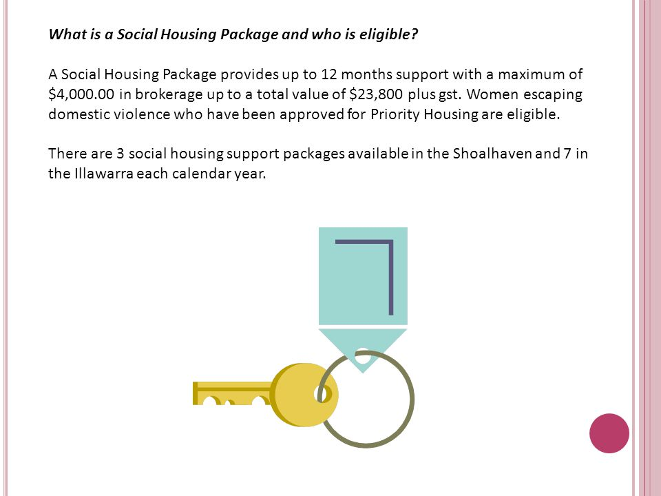 What is a Social Housing Package and who is eligible.