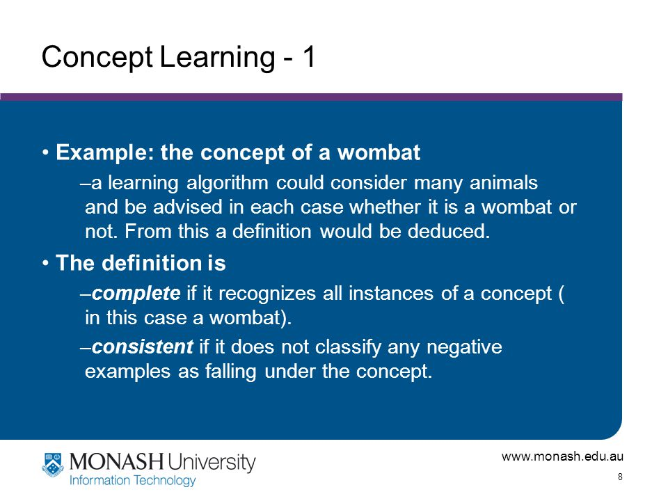 www.monash.edu.au 29 Steps of a KDD Process Learning the application domain: –relevant prior knowledge and goals of application Creating a target data set: data selection Data cleaning and preprocessing: (may take 60% of effort!) Data reduction and transformation: –Find useful features, dimensionality/variable reduction, invariant representation.