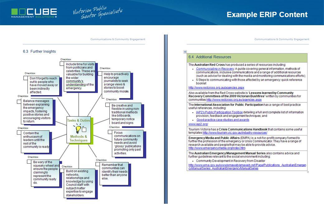 Example ERIP Content