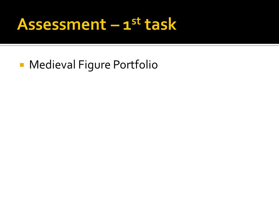  Medieval Figure Portfolio