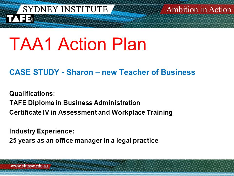 For more information please visit myLearning Teacher Education Programs TAA Scheme Policy Training Prepared by Annette Leverett and Gerard Kell