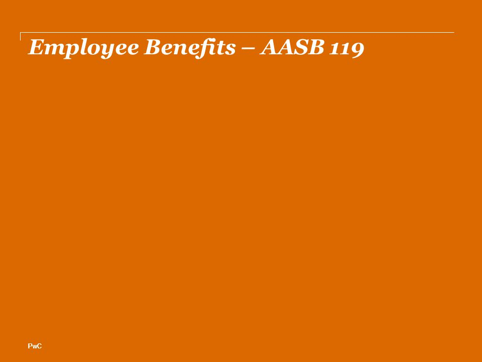 PwC Employee Benefits – AASB 119