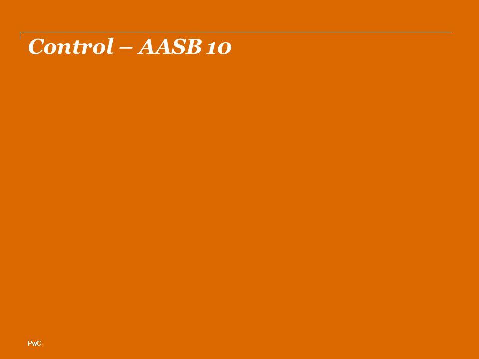 PwC Control – AASB 10