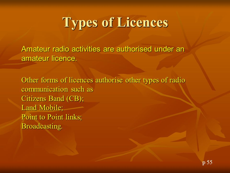 Restriction of Operation The ACMA has the right to restricted the operation of an amateur station to avoid interference.