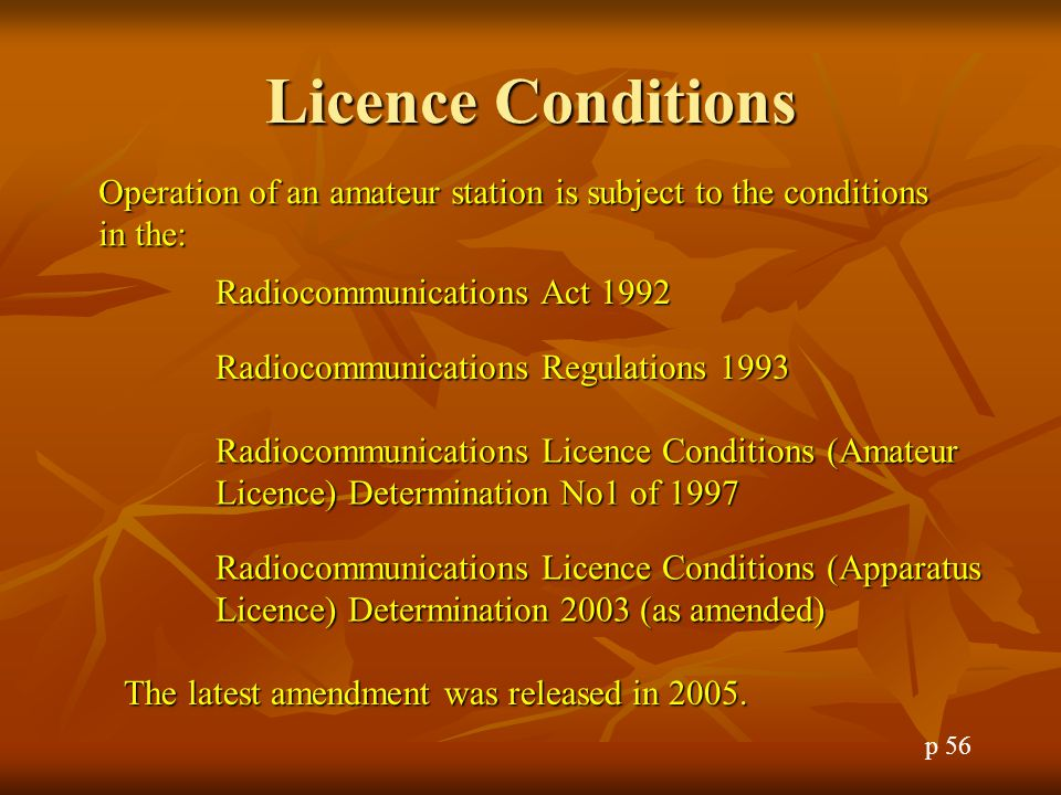 Inspection of Amateur Licences ACMA inspectors have the right to require an amateur to produce his/her licence.