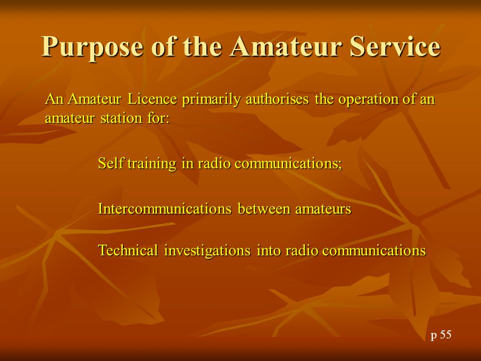 Question 19 The purpose of an antenna is to: A.Let people know you are an amatuer B.