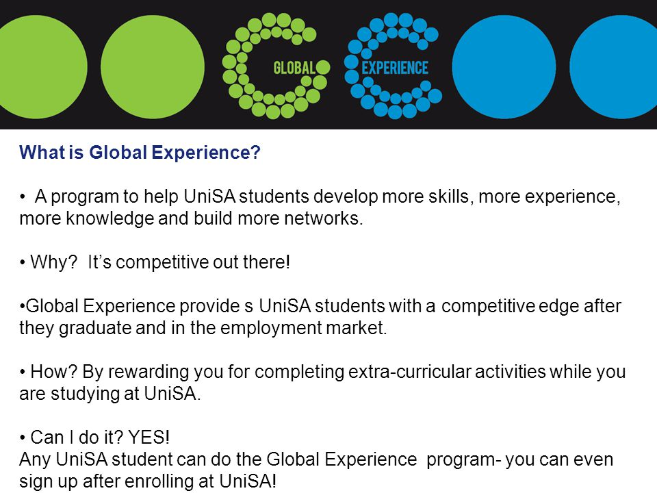 What is Global Experience.