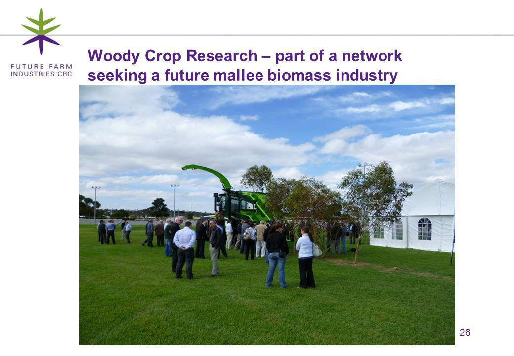 26 Woody Crop Research – part of a network seeking a future mallee biomass industry