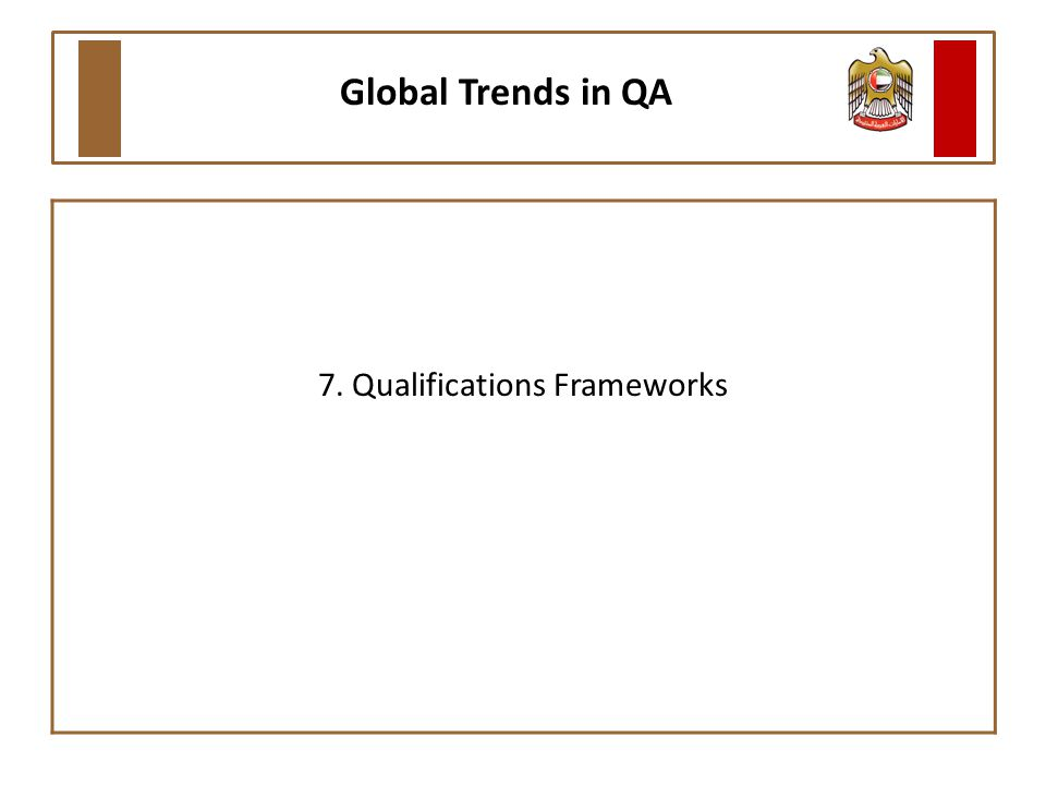 7. Qualifications Frameworks Global Trends in QA