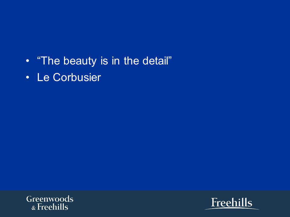 The beauty is in the detail Le Corbusier