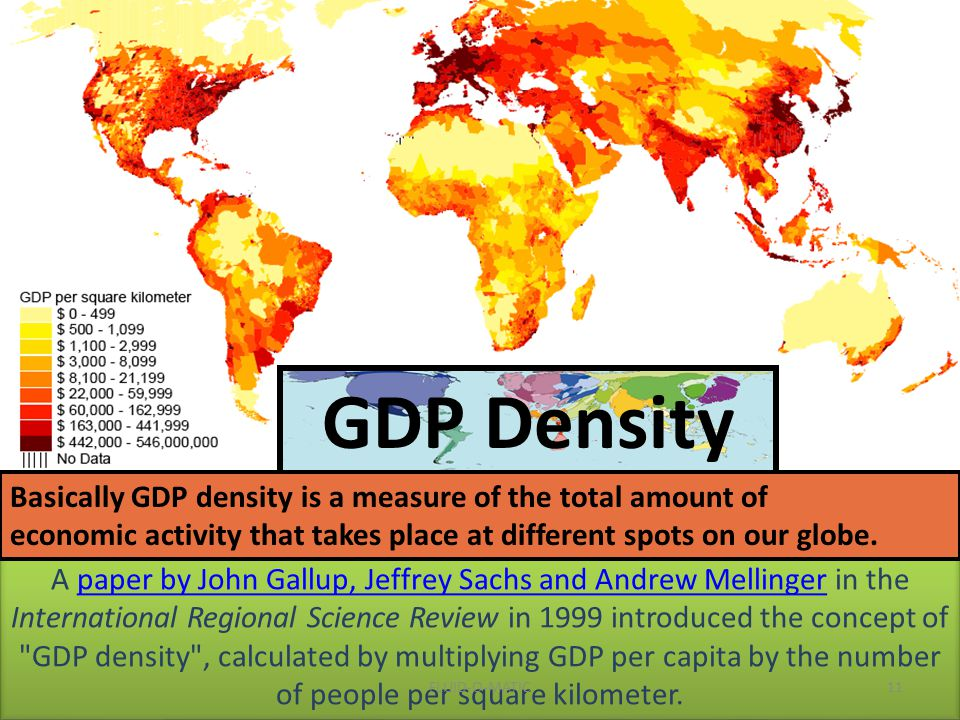 A paper by John Gallup, Jeffrey Sachs and Andrew Mellinger in the International Regional Science Review in 1999 introduced the concept of