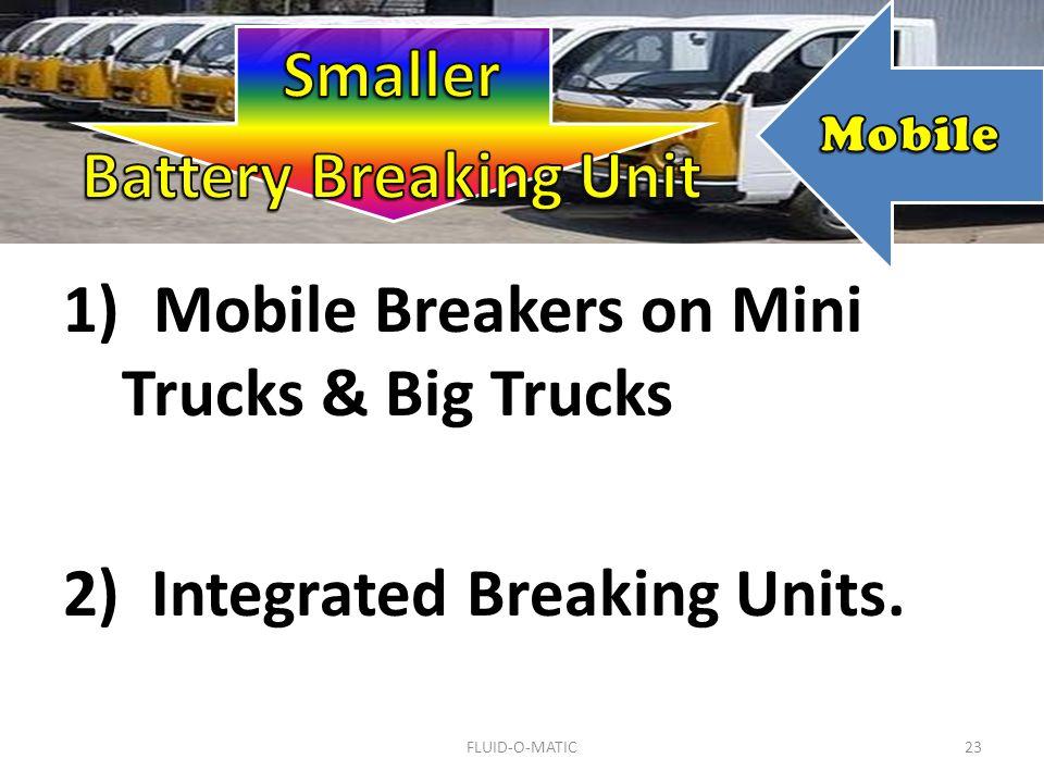 23 1) Mobile Breakers on Mini Trucks & Big Trucks 2) Integrated Breaking Units. FLUID-O-MATIC