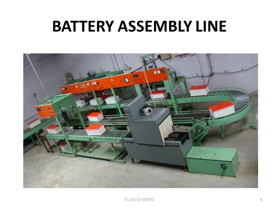 BATTERY ASSEMBLY LINE 4FLUID-O-MATIC