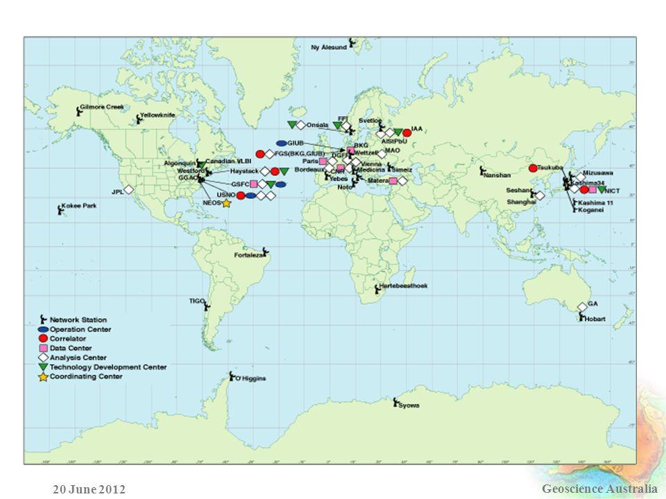 Geoscience Australia 20 June 2012
