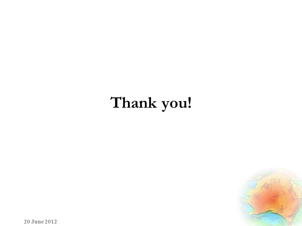 Thank you! 20 June 2012