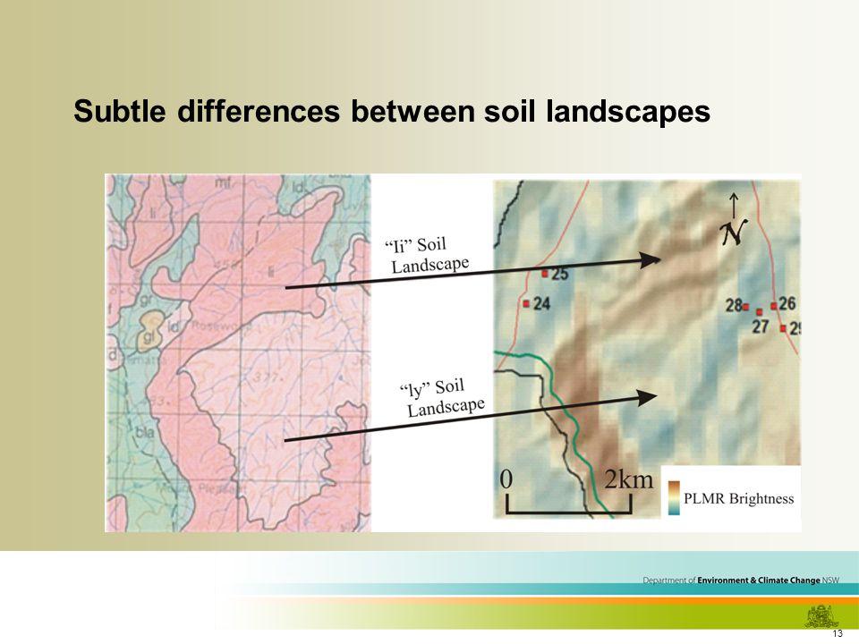 13 Subtle differences between soil landscapes