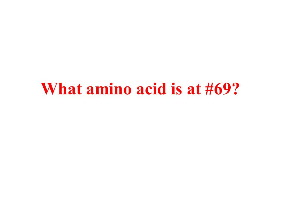 What amino acid is at #69?