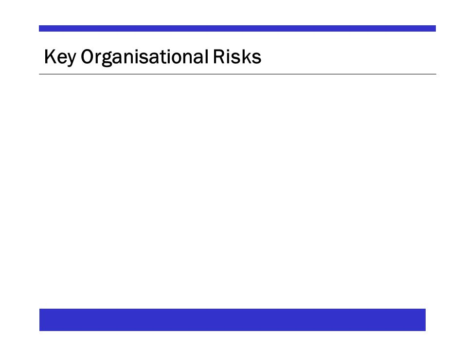 Key Organisational Risks
