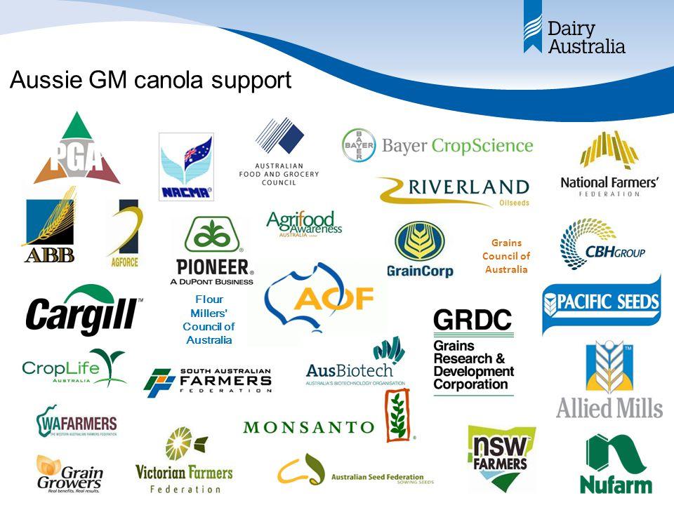 Aussie GM canola support Grains Council of Australia Flour Millers' Council of Australia