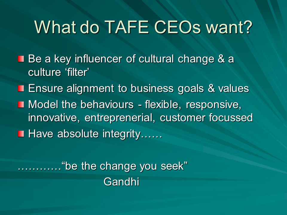 What do TAFE CEOs want.