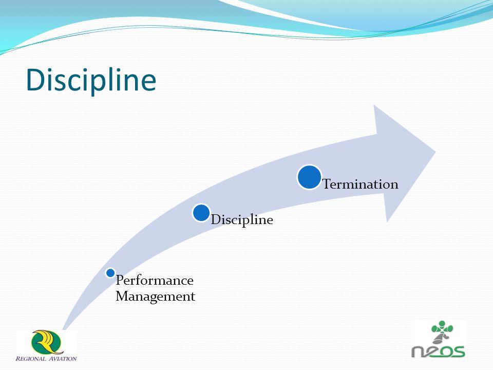 Discipline Performance Management Discipline Termination