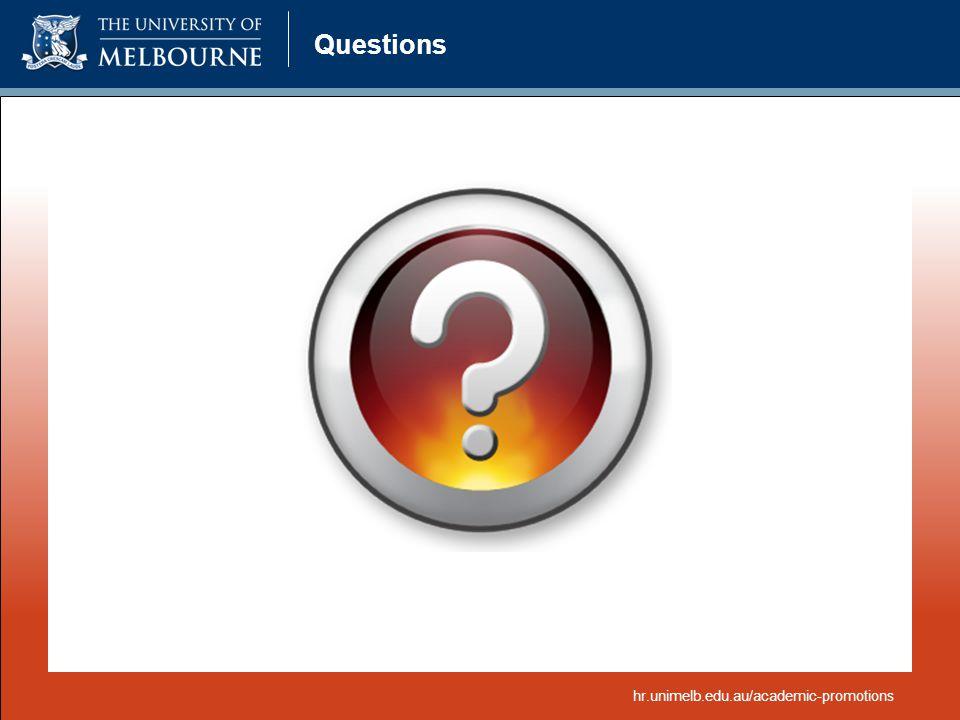 Questions hr.unimelb.edu.au/academic-promotions
