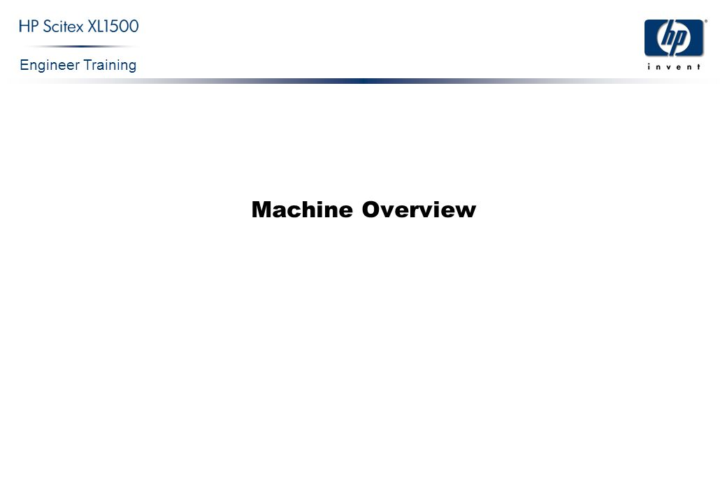 Engineer Training Machine Overview