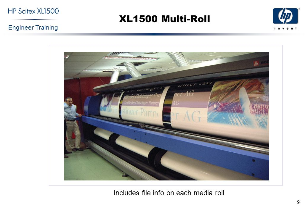 Engineer Training 9 XL1500 Multi-Roll Includes file info on each media roll