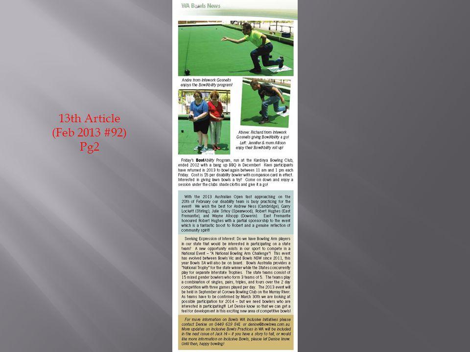 13th Article (Feb 2013 #92) Pg2