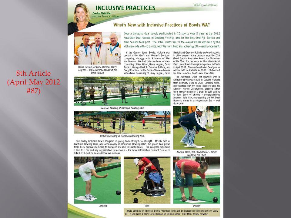 8th Article (April-May 2012 #87)