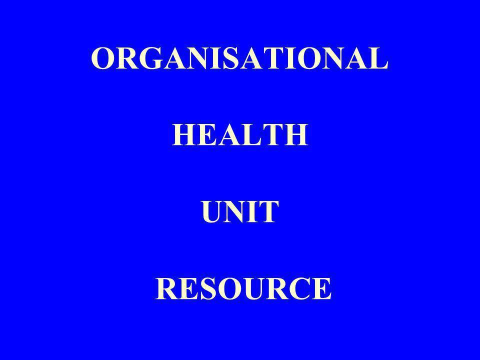 ORGANISATIONAL HEALTH UNIT RESOURCE